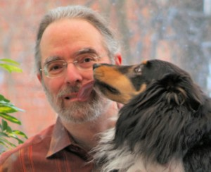 Ken Fogel and his dog Guinness