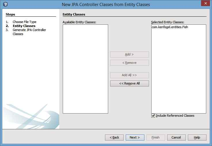 Translating the NetBeans Generated JPA Controller to a Container